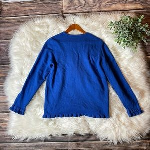J. McLaughlin Blue Cashmere Sweater